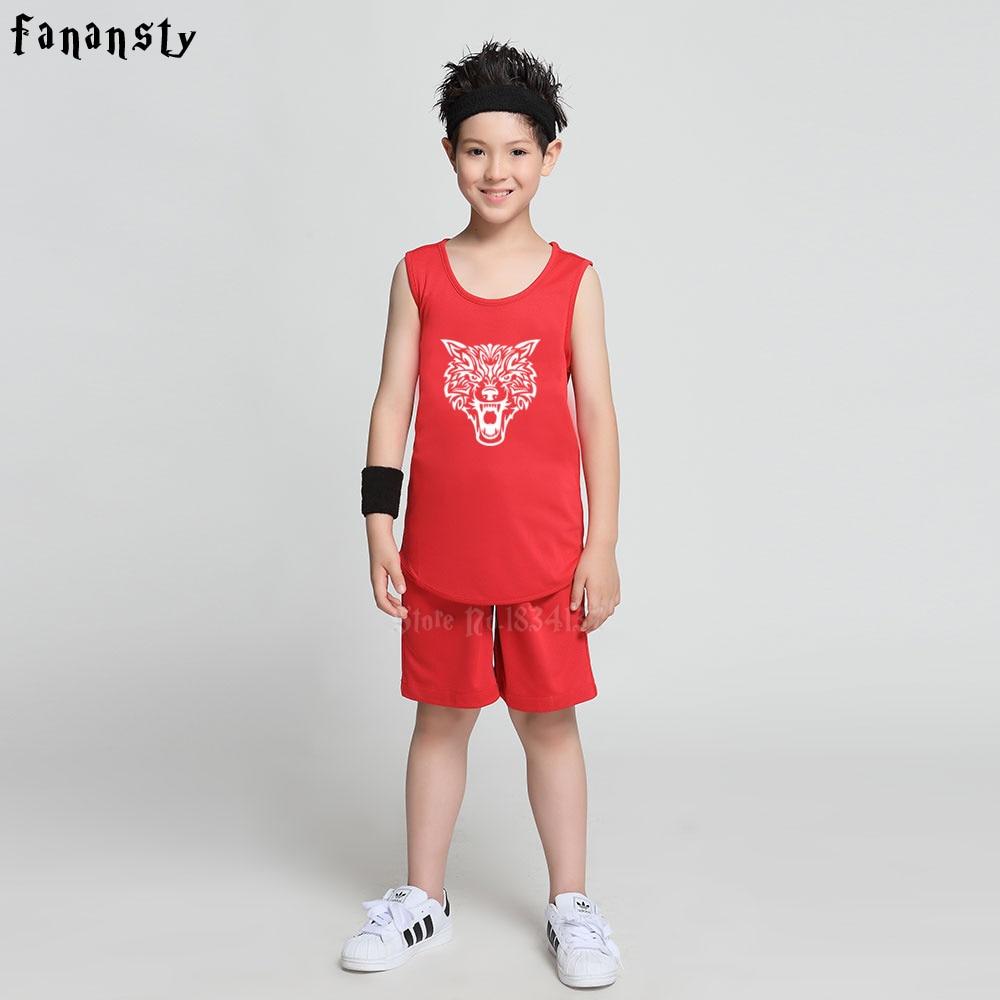f8e6c6170d1 Aliexpress.com   Buy High quality Children DIY Basketball jerseys kids  custom lion reversible basketball uniforms sets boys sports suits kits new  from ...