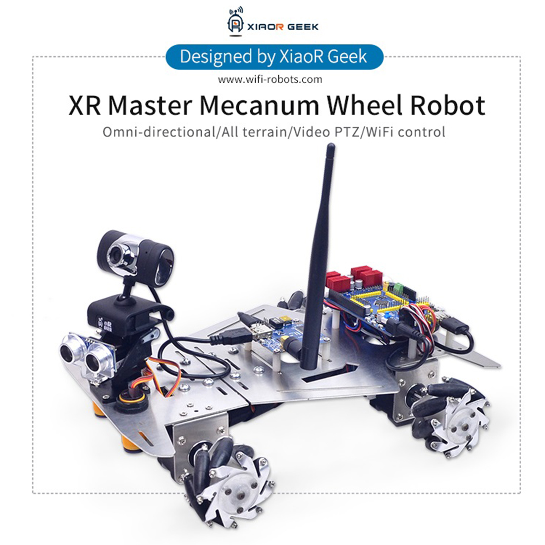 XR Master Omni-Directional Mecanum Wheel Robot Programmable Toys Games For Children Adult Creative Gift- WIFI Version