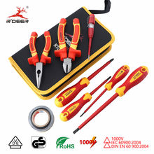 Insulated Screwdriver Set VDE 1000V Magnetic Screw Driver 6'' 8'' Wire Cutter CR-V Long Nose Pliers Electrician Repair Tools(China)