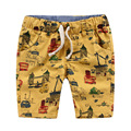 Boys Beach Shorts Print Cars Character Cotton Casual Shots For Children Clothing 2 - 8 Yrs Summer New