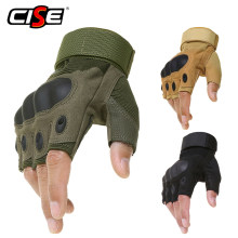 Outdoor Motorcycle Hard Knuckle Fingerless Gloves Motorbike Motocross Military Tactical Hunting Cycling Half Finger Protective(China)