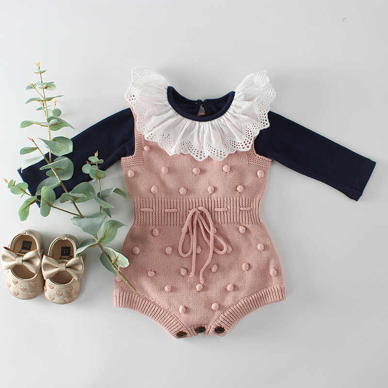 911762bd485a ... New Baby Girls Knitting Romper Newborn Baby Clothes Fashion Knitted  Baby Romper Boys Overalls Autumn Winter ...