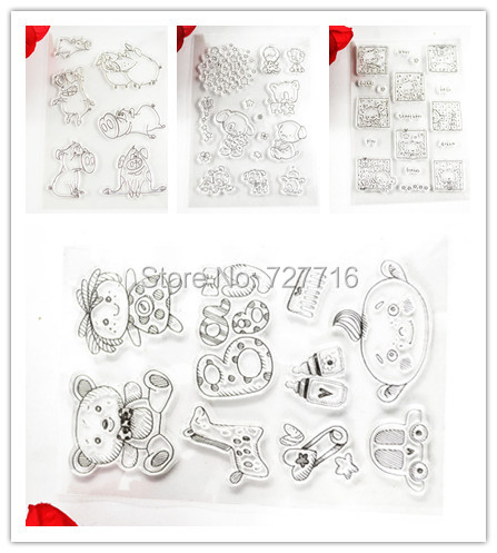 Loveliness Animal Design Clear Transparent Stamp DIY Scrapbooking/Card Making/Christmas Decoration Supplies signet