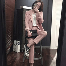 Women's Pants Suit Office Ladies Formal OL Pants Work Wear 2Pcs Sets Female Formal Work Wear Sets Jacket+Pants