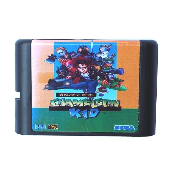 Sega MD Game Card Kid Chameleon For 16 Bit Sega MD Game