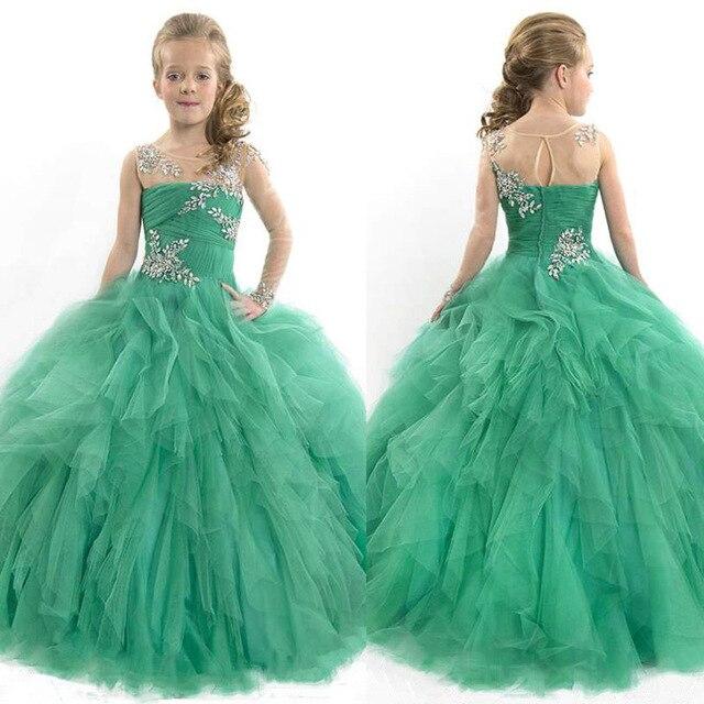 Girls Floor Length Ball Gowns