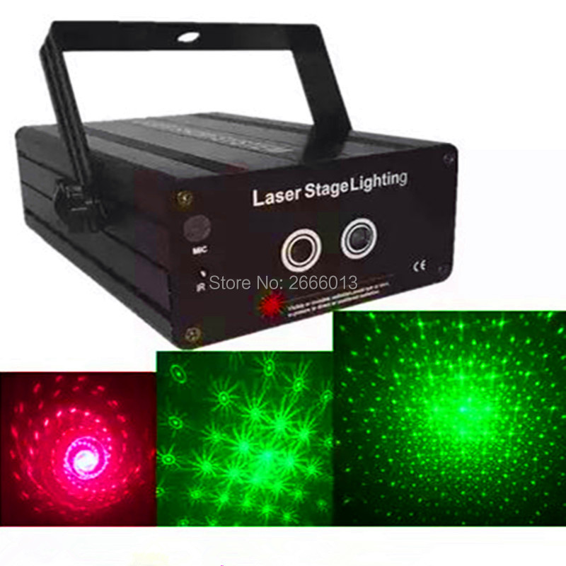 RG 2 Lens 24 Patterns Mixing Laser Projector Stage Lighting Effect red green LED Stage Lights Show Disco DJ Party Lighting rg laser white color led strobe stage lighting 3 lens 24 48 patterns mini laser projector effect show for dj disco party lights