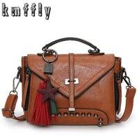 KMFFLY Fashion Single Arrow Women Bag With Double Zipper Tassel Crossbody Bags For Women Luxury Handbags
