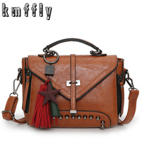 KMFFLY Fashion Single Arrow Women Bag With Double Zipper Tassel Crossbody Bags For Women Luxury Handbags