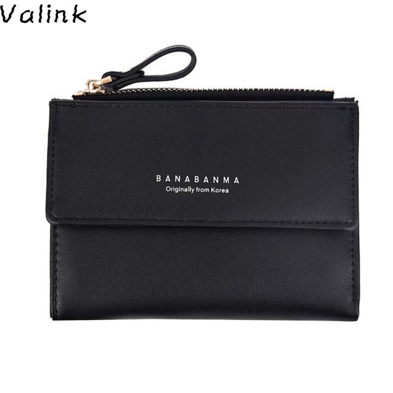 Valink 2017 New Women Wallets Pu Leather Small Card Holder Zipper Coin Purse Women Hand bag Female Small Purse Carteira feminina