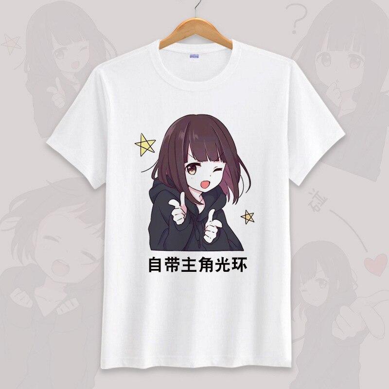 Anime menhera chan cosplay camiseta verão unissex o pescoço manga curta cos de manga curta das mulheres dos homens camisetas