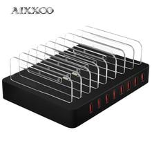 AIXXCO 96W 19A 8 พอร์ต USB Charger เครื่องชาร์จโทรศัพท์มือถือสำหรับ Samsung Huawei LG IPhone อะแดปเตอร์