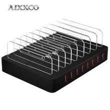 AIXXCO 96W 19A 8 יציאות USB מטען נייד טלפון מטען עבור סמסונג Huawei LG Iphone מתאם