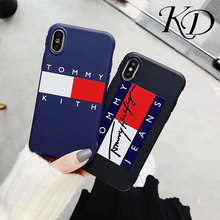 6450a1c7 Fashion US Brand Off Simple White Tommy Letter Couple Sport Styles Soft  Cover Phone Case for