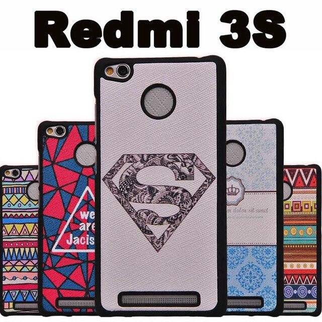on sale b9e98 e6854 US $4.99 |Xiaomi Redmi 3s phone case plastic Black PC Cartoon case for  Xiaomi Redmi 3 s case cover New wave Xiomi Redmi 3s 3 s case cover-in ...