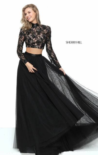 Black Prom Dresses with Cutouts