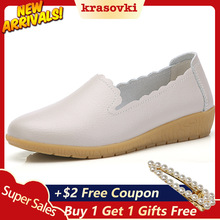 Krasovki Bean Shoes Women Spring Autumn Leather Low Bottom Casual Dropshipping Soft Slip on Fashion Single