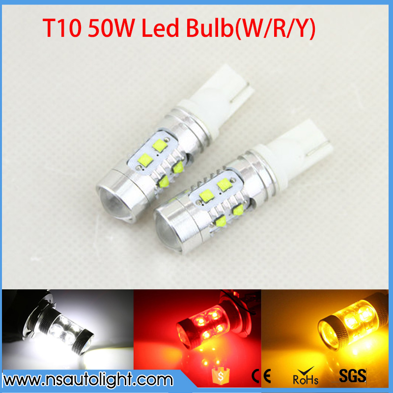 2pcs T10 194 921 CREE Chip XBD 50W LED Tail <font><b>Light</b></font> 912 Reverse <font><b>Lights</b></font> 161 Brake Lamp, 12V 168 Clearance <font><b>Light</b></font> W5W Stop Bulbs