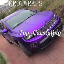 Purple Metallic matte chrome Vinyl Wrap Car Wrapping Film For Vehicle styling With Air Rlease PROTWRAPS 1.52x20m/Roll
