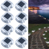 2/4 PCs Solar LED Marker Lights Safety Light for Pathway Driveway Dock Path Deck led solar light outdoor