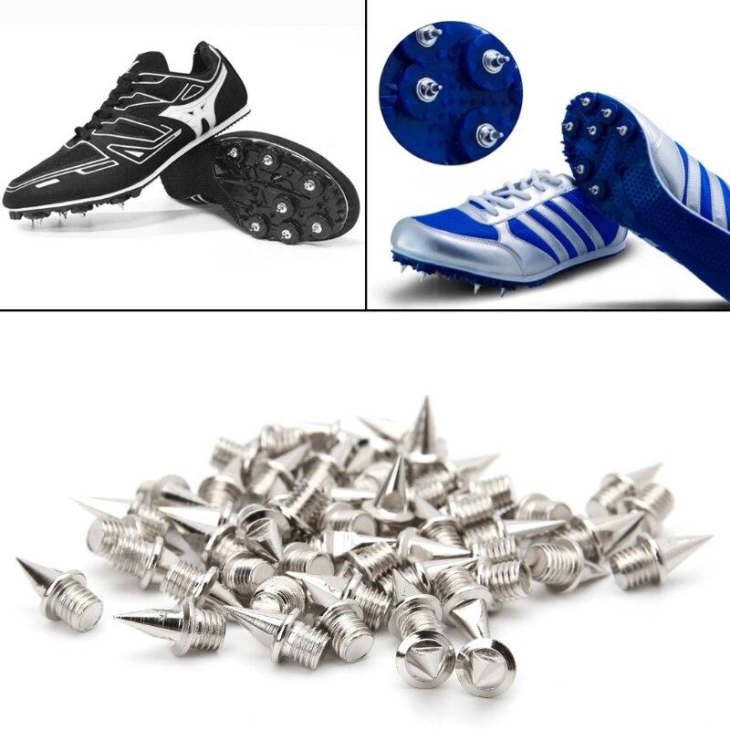 EYKOSI 50Pcs 9.5mm Spikes Studs Replacement Track Shoes Sports Running Screwback SilverEYKOSI 50Pcs 9.5mm Spikes Studs Replacement Track Shoes Sports Running Screwback Silver