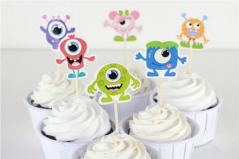 Incredible Free Shipping 24 Pcs Monster High Topper Kid Cake Topper Pick Cake Personalised Birthday Cards Beptaeletsinfo