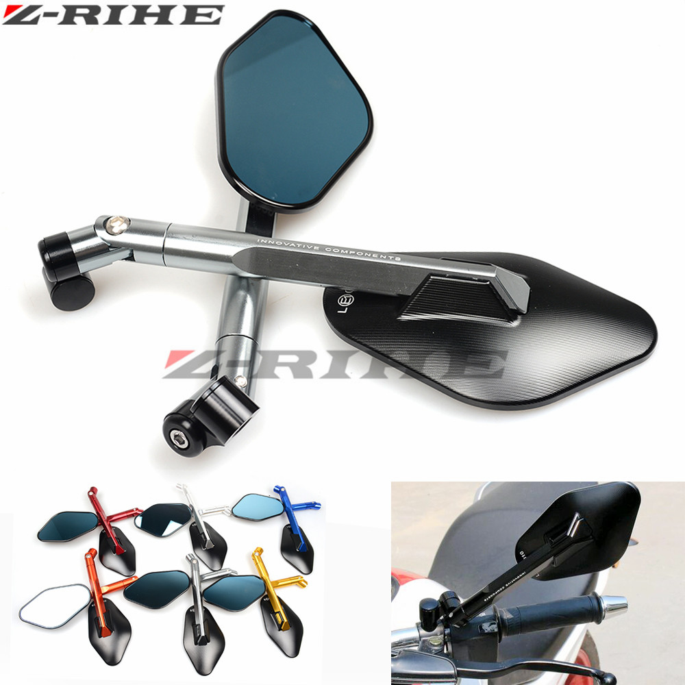 Hot sale Motorcycle Aluminum CNC Side Mirror Motorbike Rearview Scooter Rear Mirror For honda yamaha Kawasaki z750 Suzuki Ducati