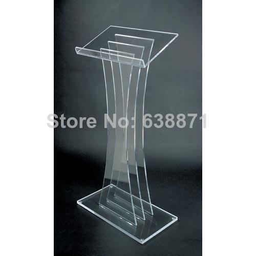 Free Shiping High Quality Premium Floor Standing Acrylic Desktop Lectern Cheap Acrylic Lectern