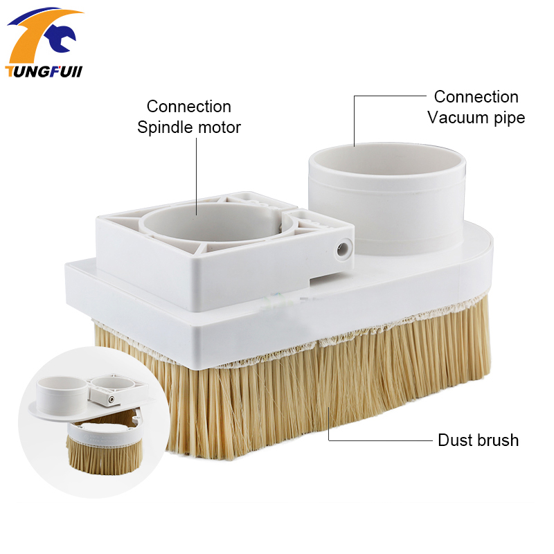 Image 3 - Engraving machine vacuum cover accessories plastic adsorption nut woodworking removable dust cover dust cover engraving machine-in Woodworking Machinery Parts from Tools