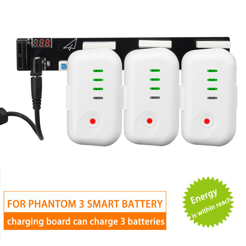 1pcs Battery Chargers Multi-charging board Fast filling plates for DJI phantom 3 Accessories dji phantom 3 battery charging hub power management for phantom3 series charger original accessories