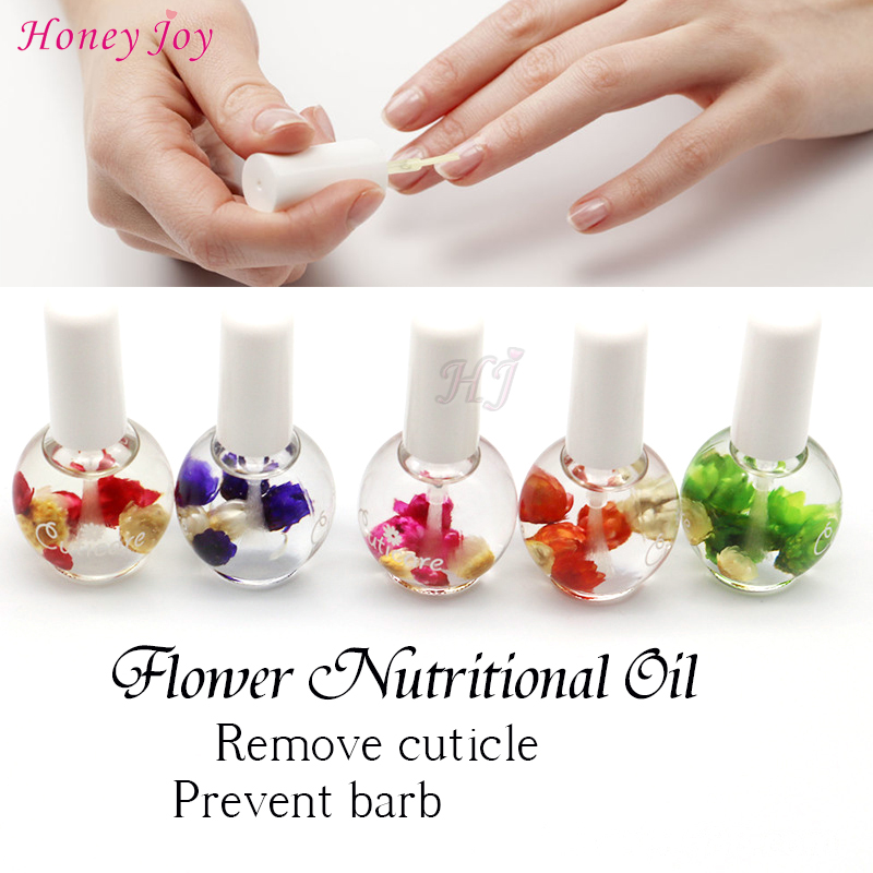 Wonderful Smell Blossom Natural Dry Flower Nourishment Olja Nail Cuticle Processing Tools Nutritional Nail Treatment Lacquer