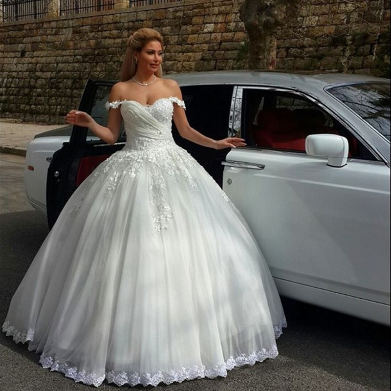 Robe De Mariee Fashion Style Princess Lace Wedding Dress