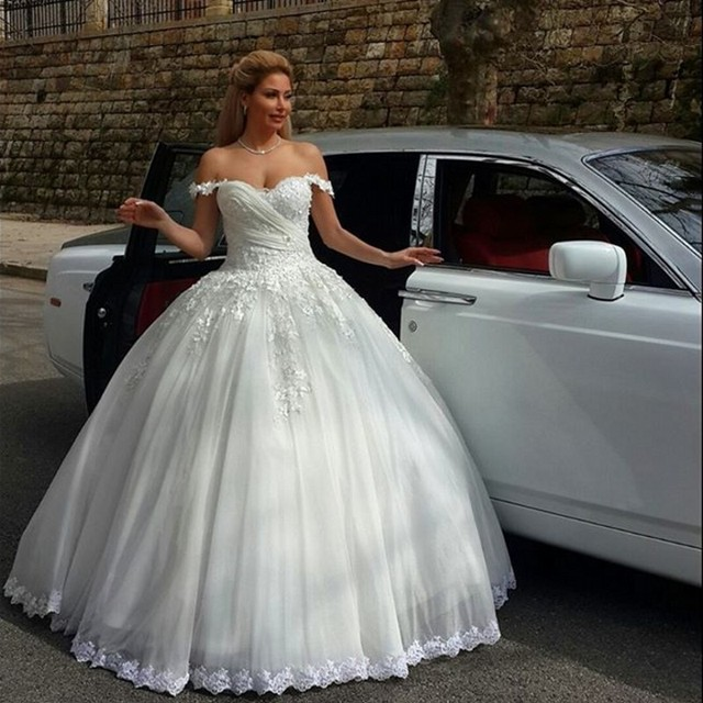 Robe De Mariee Fashion Style Princess Lace Wedding Dress Uk Bridal ...