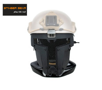 Stinger Gear SPT Airsoft Full Face Mesh Mask Fast Helmet Mask Black+Free shipping(STG050887)
