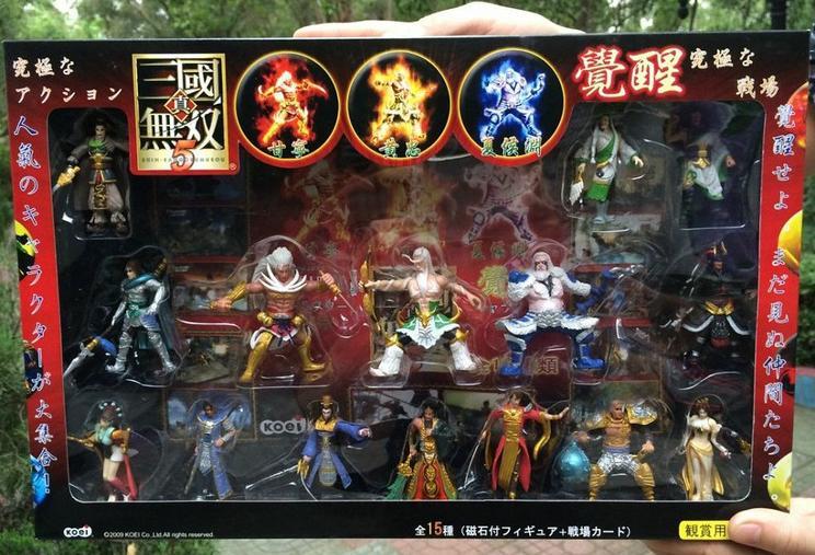 1 Unidades caja de regalo en línea juego Dynasty Warriors 5 figura de acción doll.7cm niños pvc colección cosplay regalo guanyu diao chan d10