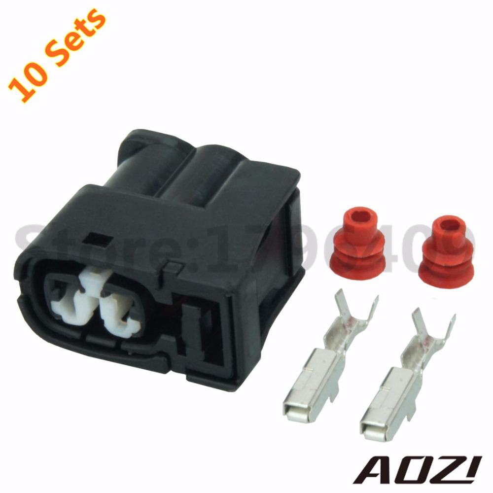10 Sets Kit Auto Wire Harness Connector 2Pins Waterproof Sealed Connectors/2mm  Series/Car Parts Plastic Connector 7283 8226 30-in Connectors from Lights  ...