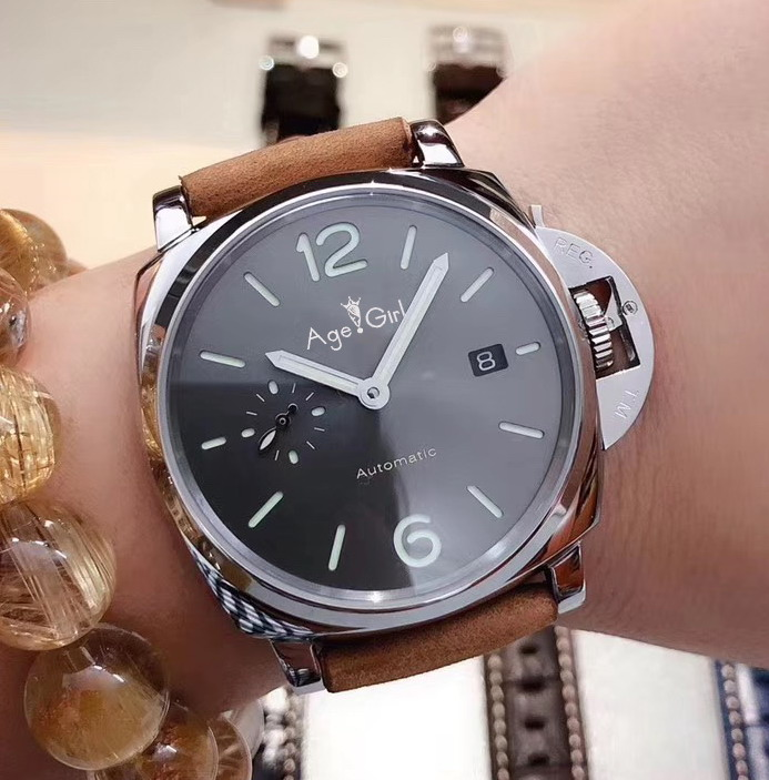 Luxury Brand New Automatic Mechanical Lady Women Black Leather Sapphire Stainless Steel Black Dial Sport Date Due Watches AAALuxury Brand New Automatic Mechanical Lady Women Black Leather Sapphire Stainless Steel Black Dial Sport Date Due Watches AAA