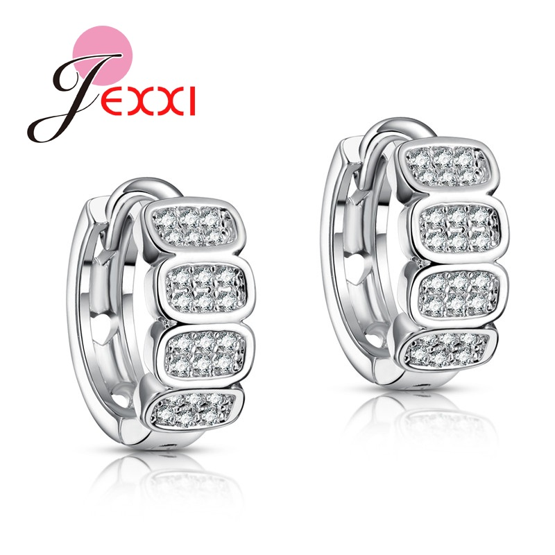 Jemmin 1Pair Womans Stainless Wide Hoop Earrings Fashion Sterling Silver Ear Jewelry Chic Basketball Wives Piercing Accessories
