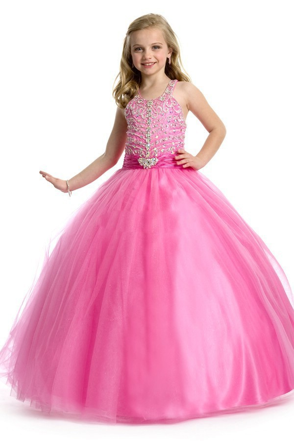 Aliexpress.com : Buy kids beauty pink pageant ball gown for girls ...