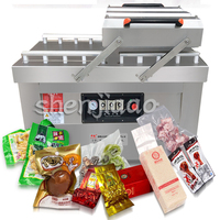 1pc Automatic Vacuum Food Sealers dry wet vacuum sealing machine commercial double room package vacuum sealing machine 220v/380v