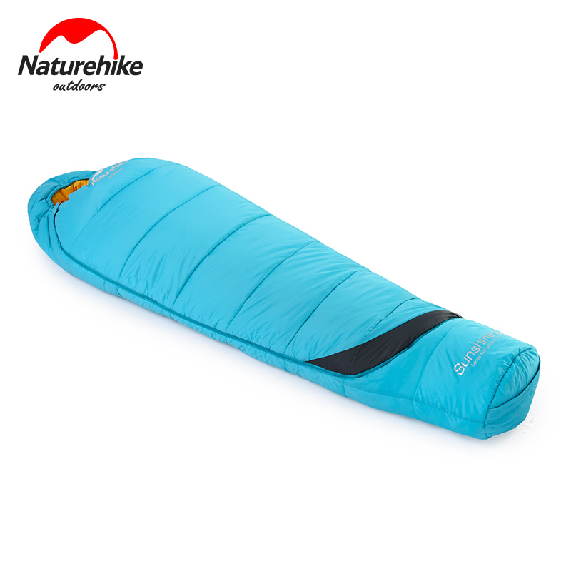 Naturehike Mummy Sleeping Bag Waterproof Adult Portable Outdoor Camping Hiking Cotton NH17G350-E naturehike envelope shaped sleeping bag cotton portable outdoor travel camping hiking sleeping bag for adult with carry bag