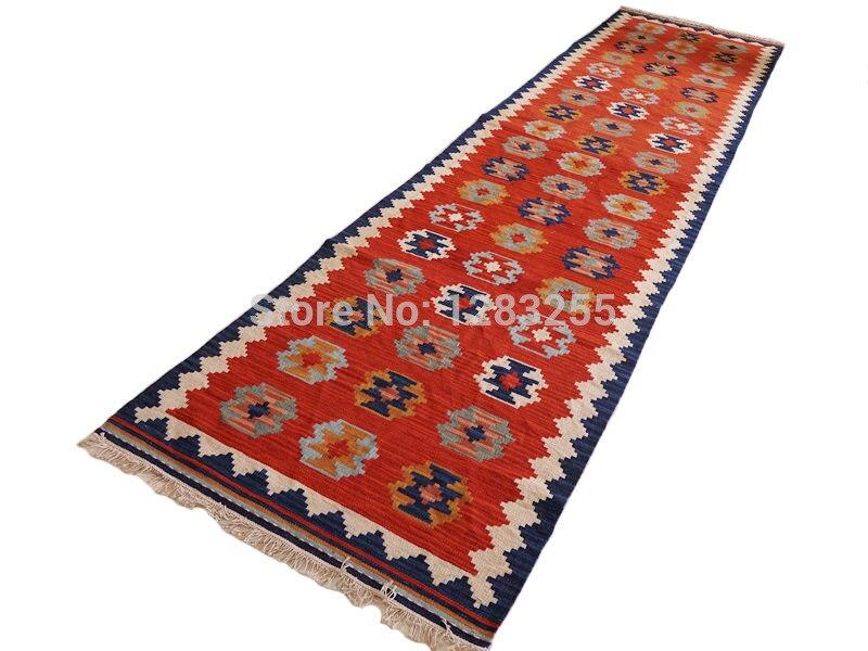 IKEA IKEA classic Scandinavian style hand-woven wool carpets / kilim kilim carpet corridor