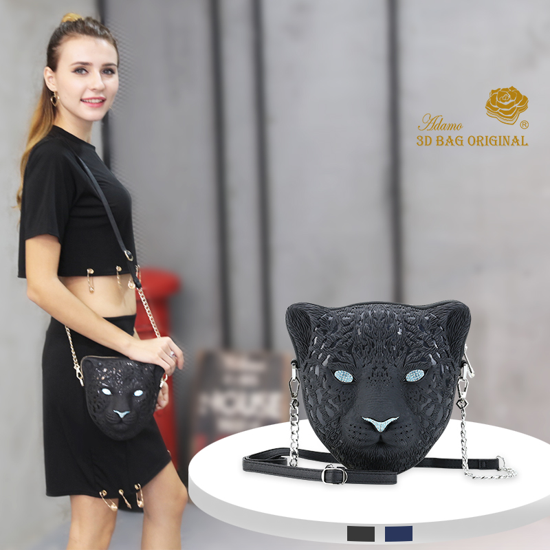 Adamo 3D Bag Original Leopard Sling Bag Luxury Brand Women Shoulder Bag High Quality Women's Handbags женская юбка brand new 2015 strawberry leopard 3d f e43
