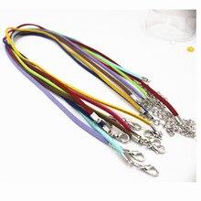 20 шт. Корея бархат ожерелье Замши веревка цепи ожерелье 3 мм * 45 см Ювелирных Изделий сделать ожерелье браслеты