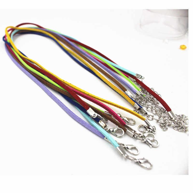 5 sztuk Korea aksamitny naszyjnik zamszowy naszyjnik łańcuch liny 3mm * 45cm ocena biżuteria zrobić naszyjnik bransoletki