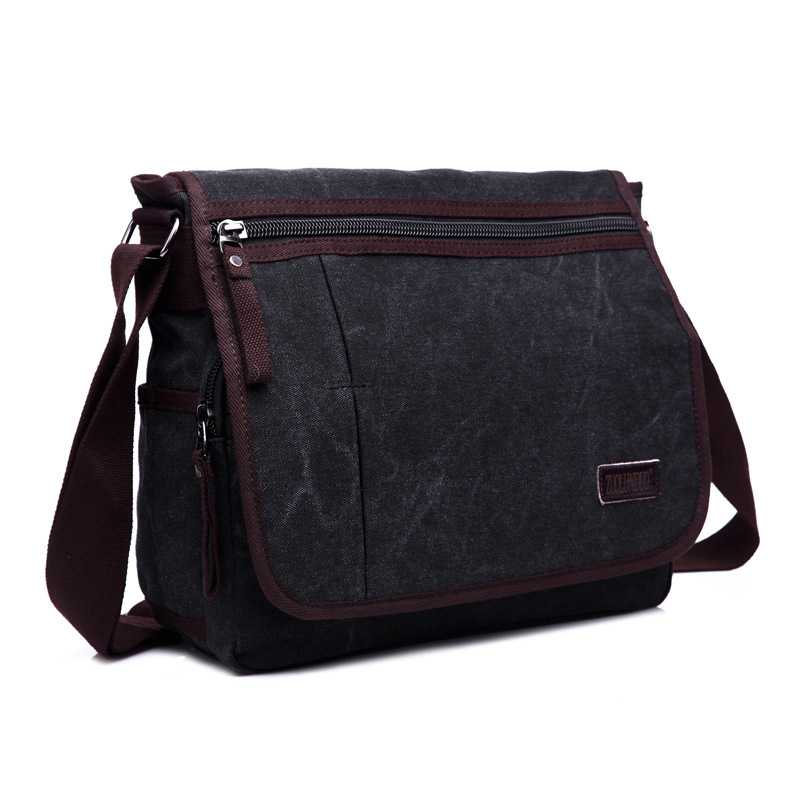 Retro Men Briefcase Business Shoulder Bag Canvas Messenger Bags Black Man Crossbody Tote Bag Casual Travel Bag Sac Hommes canvas leather crossbody bag men briefcase military army vintage messenger bags shoulder bag casual travel bags
