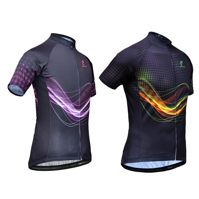 JESOCYCLING Men And Women Cycling Jersey Couple Cycling Clothing Breathable  Quick-Dry Cycling Top Ropa 97ed2cc42