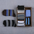 10Pairs/Lot Boys socks 100% child cotton sock 8 - 12 male child socks stripe elegant quality sock for boys clothing accessories