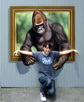 Hand Painted Orangutan 3D Oil Painting Living Room Wall Picture Large Canvas Painting Wholesale For Sale