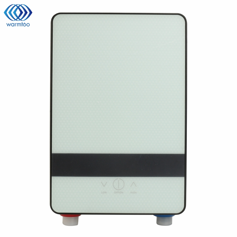 Instantaneous Water Heaters Shower 6500W Digital Display Wall Mounted Smart Touch Leakproof Electric Function Kitchen 220V